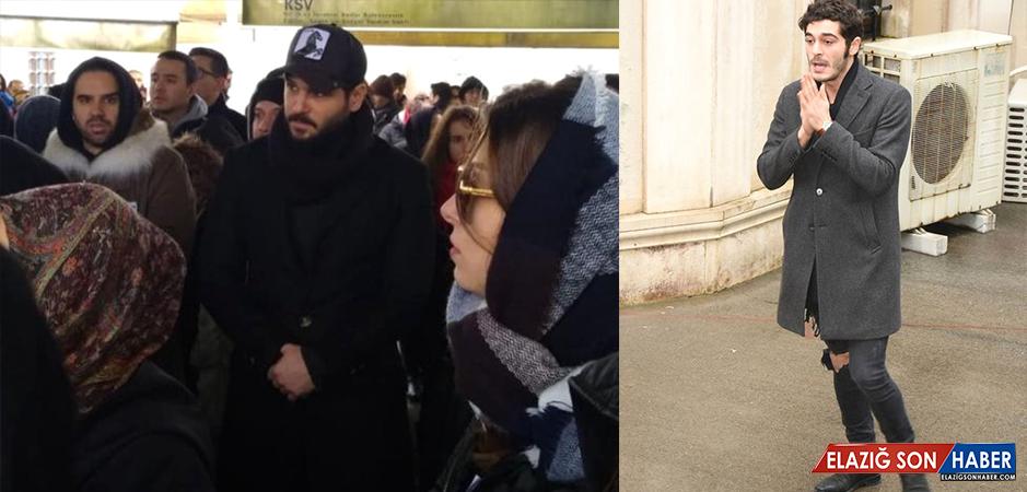 Hande Erçel'in Annesinin Cenazesine Katılan Burak Deniz'in Hali, Yürekleri Dağladı