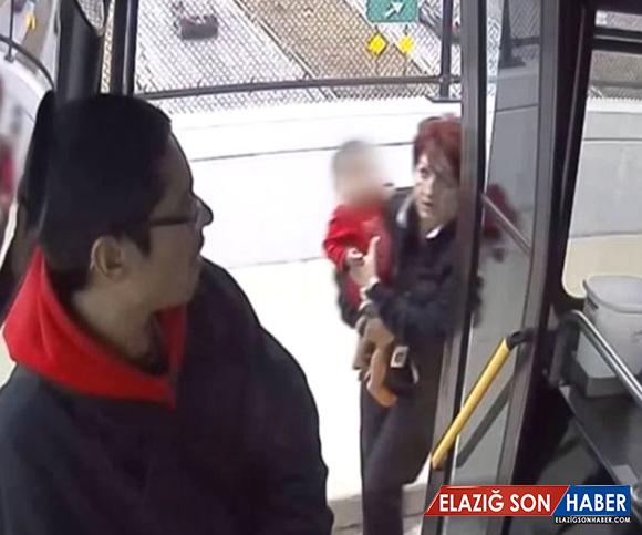 Kaybolan Bebeğin İmdadına Kadın Otobüs Sürücüsü Yetişti