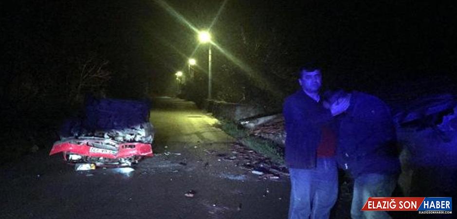 Kaza yapan alkollü sürücünün isyanı