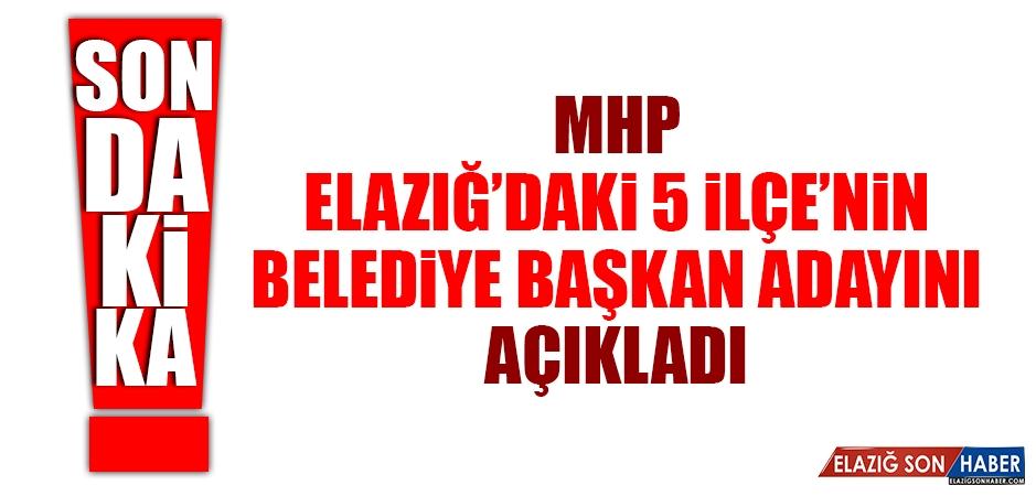 MHP'nin Elazığ'daki 5 İlçe Adayı Belli Oldu