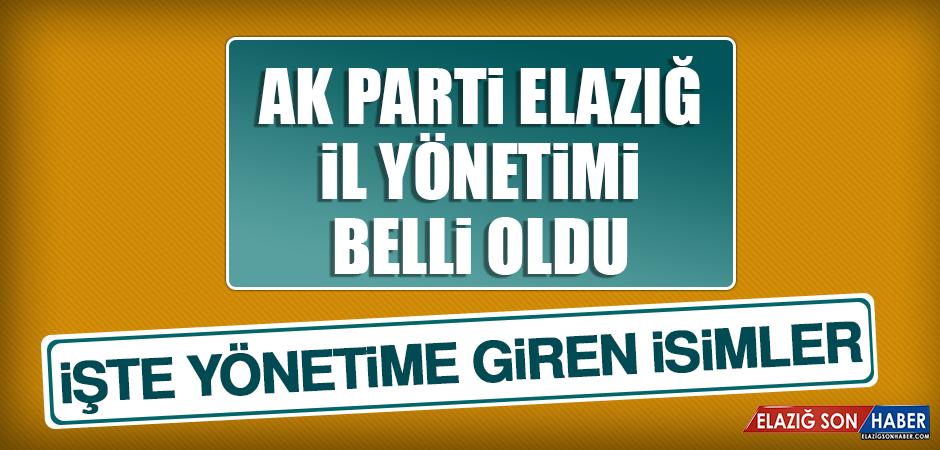 AK Parti Elazığ İl Teşkilatının Yeni Yönetimi Belli Oldu