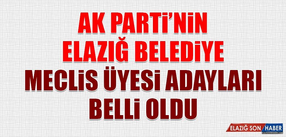 AK Parti'nin Elazığ Belediye Meclis Üyesi Adayları Belli Oldu