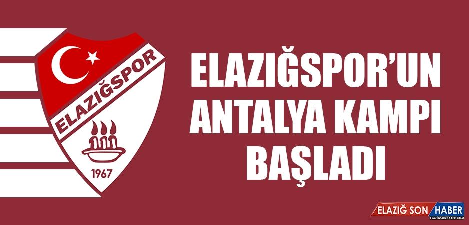 Elazığspor'un Antalya Kampı Başladı