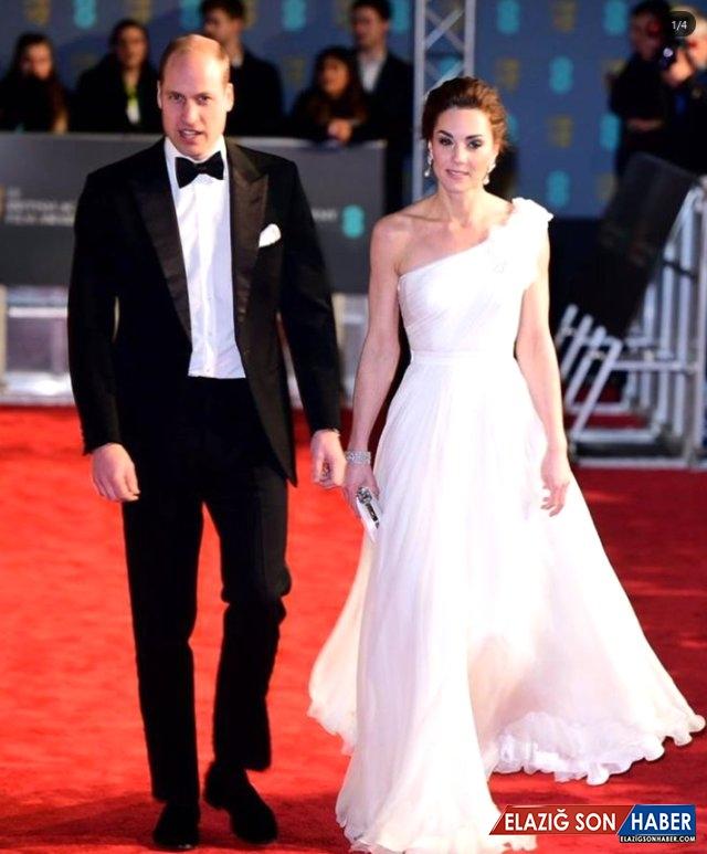İngiliz Kraliyet Gelini Kate Middleton, Kıyafetiyle BAFTA Ödül Törenine Damga Vurdu