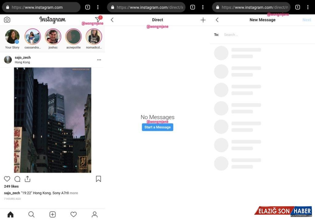 Instagram'a Tarayıcı Üzerinden DM Atma Özelliği Geliyor