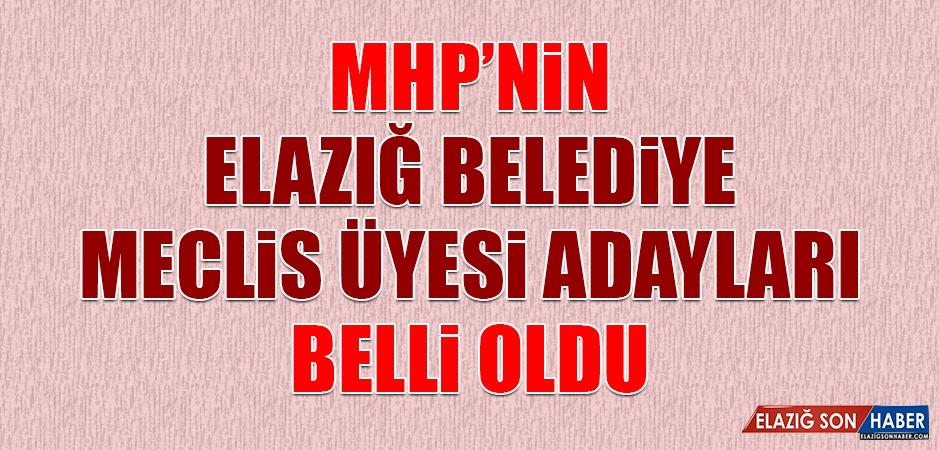 MHP'nin Elazığ Belediye Meclis Üyesi Adayları Belli Oldu