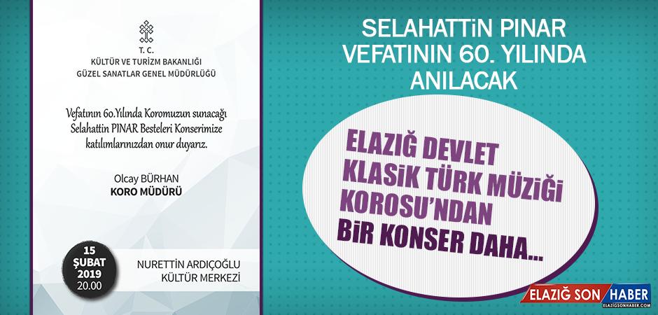 Selahattin Pınar Vefatının 60. Yılında Anılacak