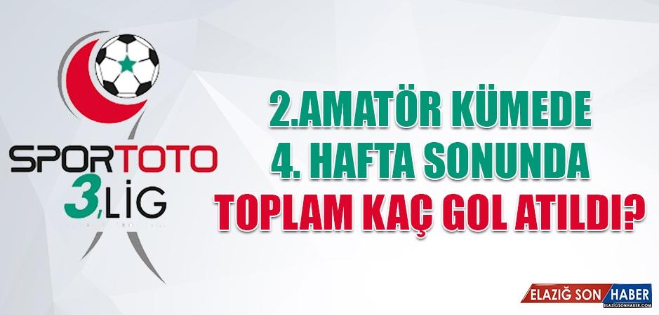 2.Amatör Kümede Dördüncü Haftada Toplam Kaç Gol Atıldı?