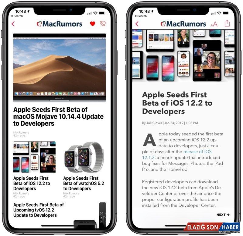 Apple, iOS 12.2'nin 6. Geliştirici Betasını Yayınladı