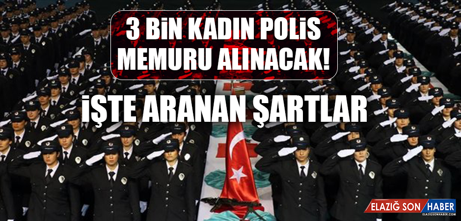 3 BİN KADIN POLİS MEMURU ALINACAK! İŞTE ARANAN ŞARTLAR