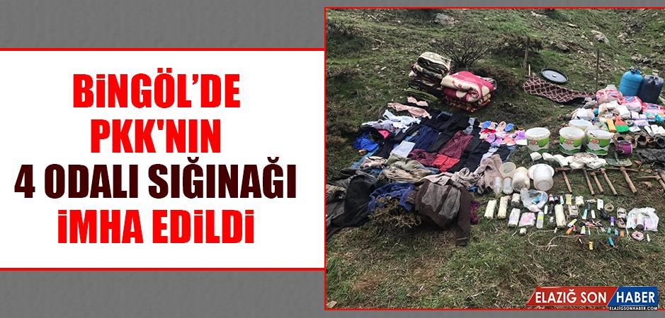 Bingöl'de PKK'nın 4 Odalı Sığınağı İmha Edildi