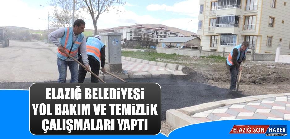 Elazığ Belediyesi Yol Bakım ve Temizlik Çalışmaları Yaptı