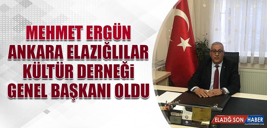Mehmet Ergün Ankara Elazığlılar Kültür Derneği Genel Başkanı Oldu