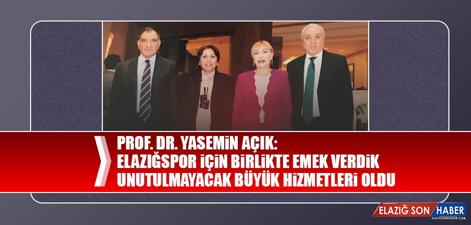 Prof. Dr. Yasemin Açık'tan Başsağlığı Mesajı