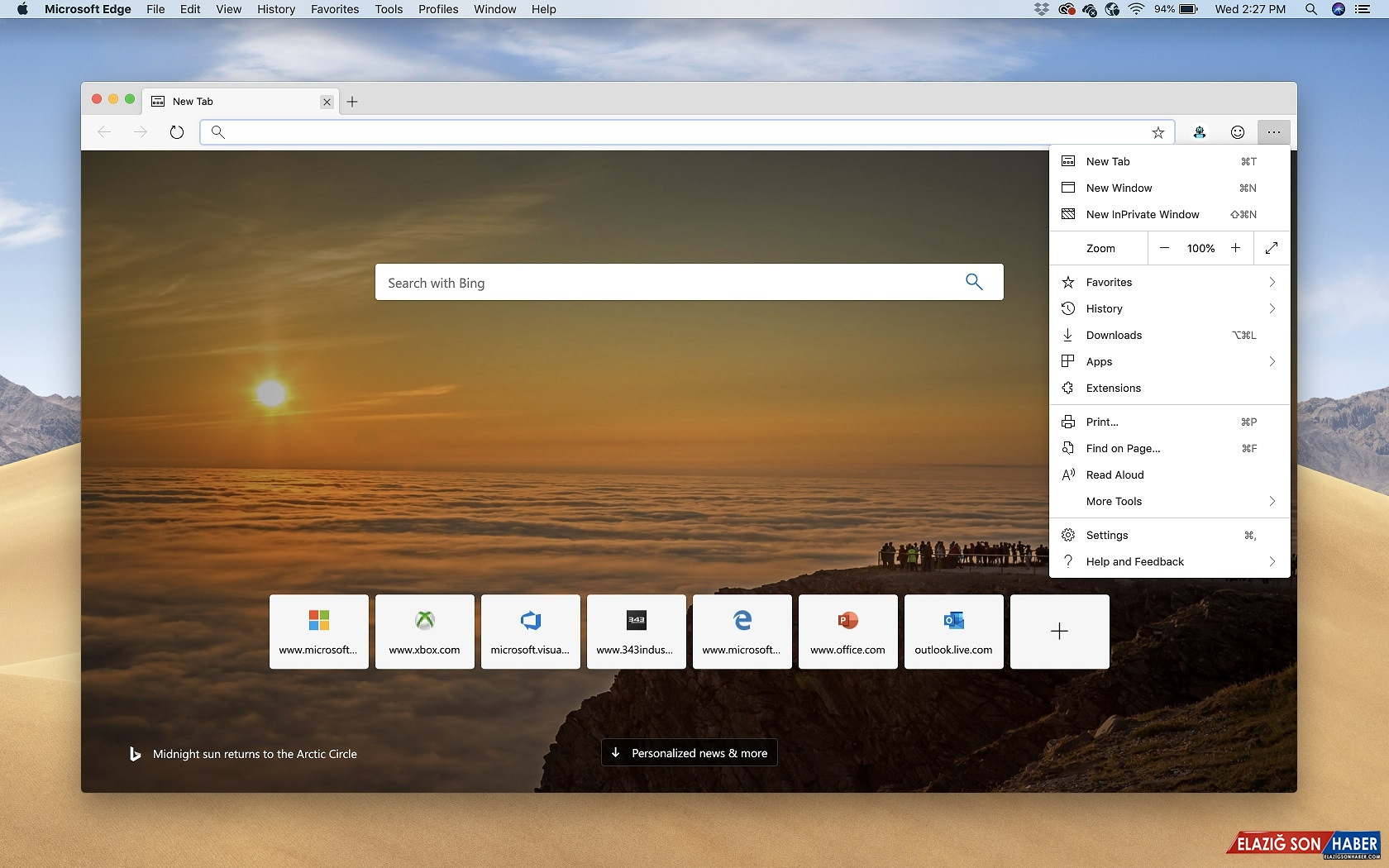 Chromium Tabanlı Edge'in macOS Sürümü Kullanıma Hazır