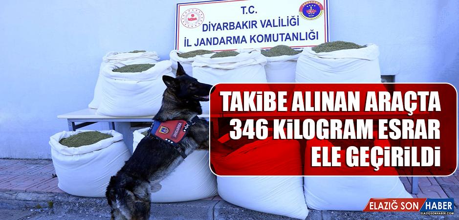 Diyarbakır'da Takibe Alınan Araçta 346 Kilogram Esrar Ele Geçirildi