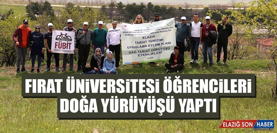 Fırat Üniversitesi Öğrencileri Doğa Yürüyüşü Yaptı