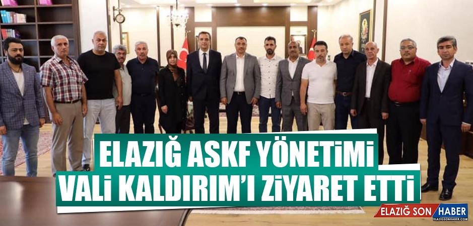 EASKF Yönetimi, Vali Kaldırım'ı Ziyaret Etti
