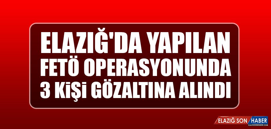 Elazığ'da Yapılan FETÖ Operasyonunda 3 Kişi Gözaltına Alındı