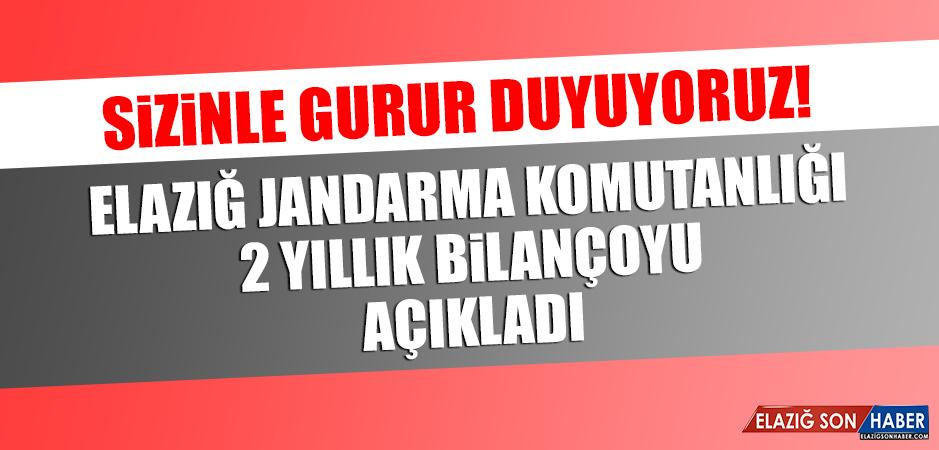 Elazığ Jandarma Komutanlığı 2 Yıllık Bilançoyu Açıkladı
