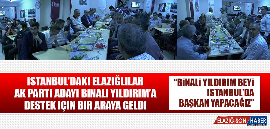 İstanbul'daki Elazığlılar AK Parti Adayı Binali Yıldırım'a Destek İçin Bir Araya Geldi