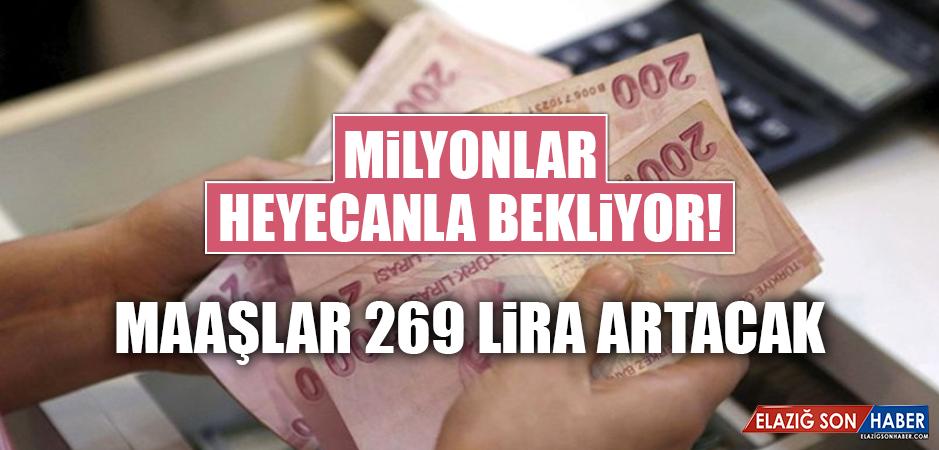 Maaşlar 269 Lira Artacak