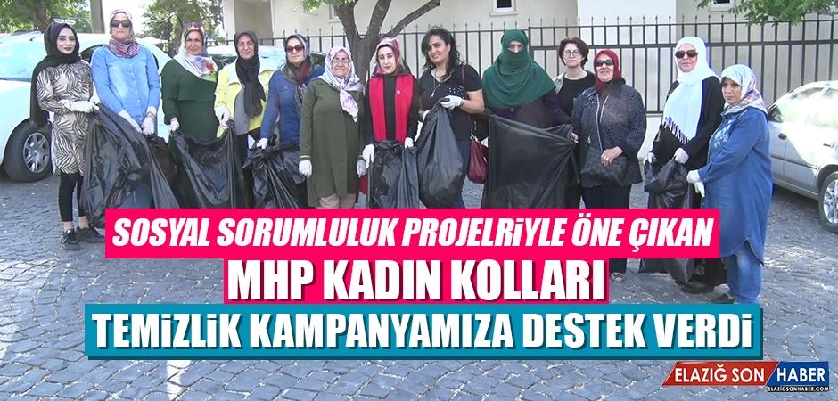 MHP Elazığ Kadın Kolları, Harput'ta Temizlik Yaptı