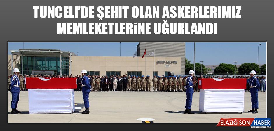 Tunceli'de Şehit Olan Askerlerimiz Memleketlerine Uğurlandı