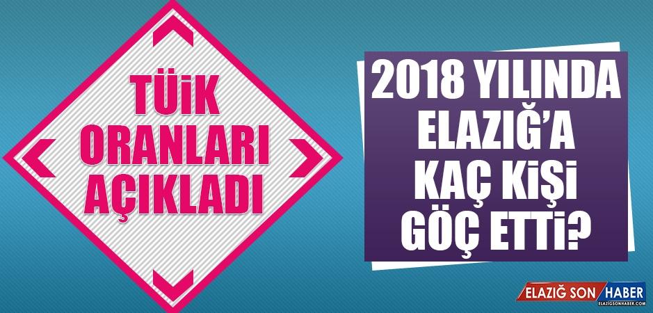 2018 Yıllında Elazığ'a Kaç Kişi Göç Etti?