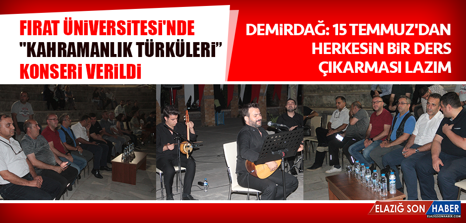 """""""Kahramanlık"""" Türküleri Konseri Verildi"""