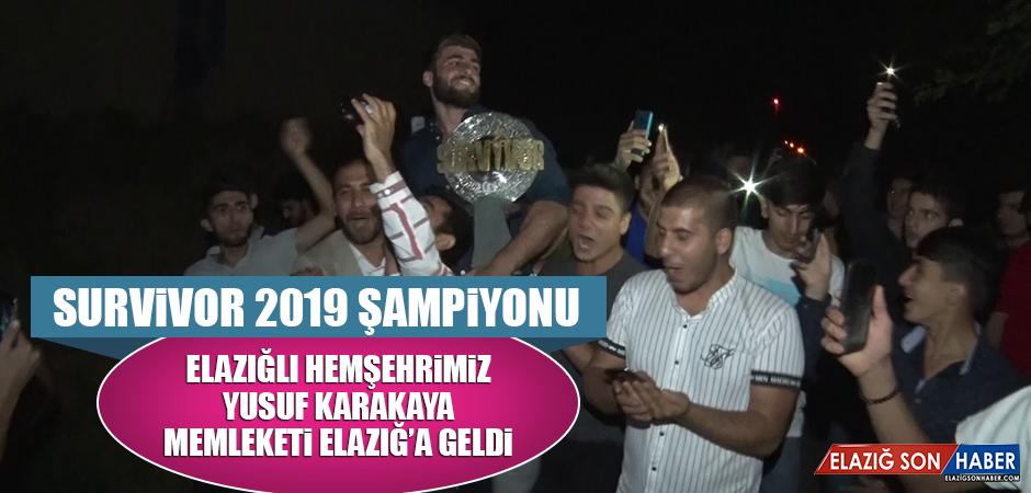 Survivor 2019 Şampiyonu Hemşehrimiz Karakaya Memleketi Elazığ'da