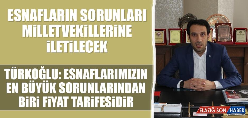 Türkoğlu: Esnaflarımızın En Büyük Sorunlarından Biri Fiyat Tarifesidir
