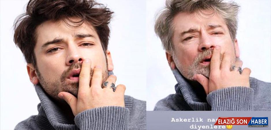 Yakışıklı oyuncu Alp Navruz, askerlik nasıl geçti sorusuna yaşlılık fotoğrafıyla cevap verdi