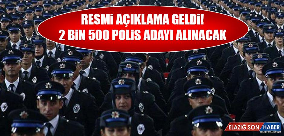 2 BİN 500 POLİS ADAYI ALINACAK