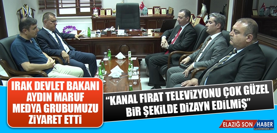 Bakan Maruf'tan Medya Grubumuza Ziyaret