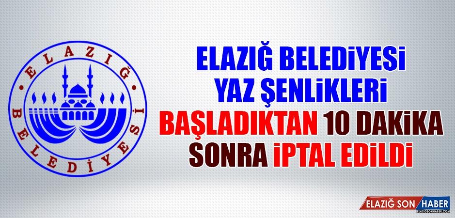 Şırnak'tan Acı Haber Geldi! Elazığ Belediyesi Şenlikleri İptal Etti