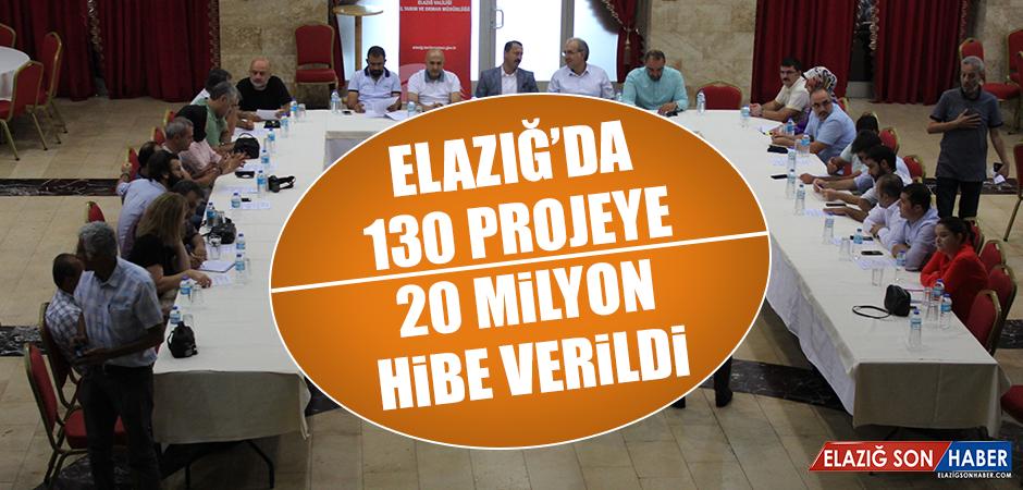 Elazığ'da 130 Projeye 20 Milyon Hibe Verildi