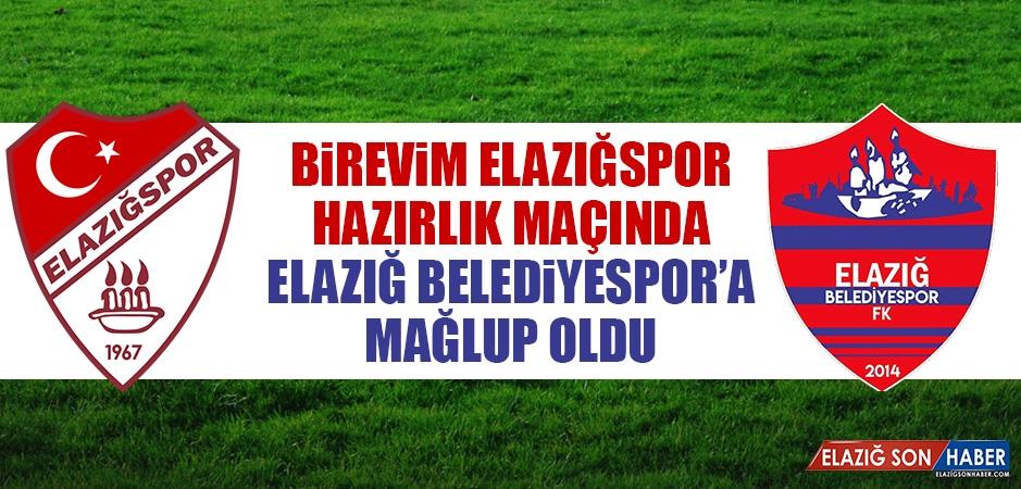 Elazığspor, Hazırlık Maçında Belediyespor'a Mağlup Oldu
