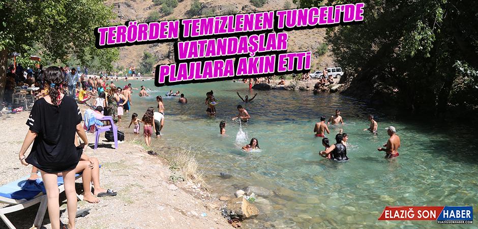 Terörden Temizlenen Tunceli'de Vatandaşlar, Plajlara Akın Etti