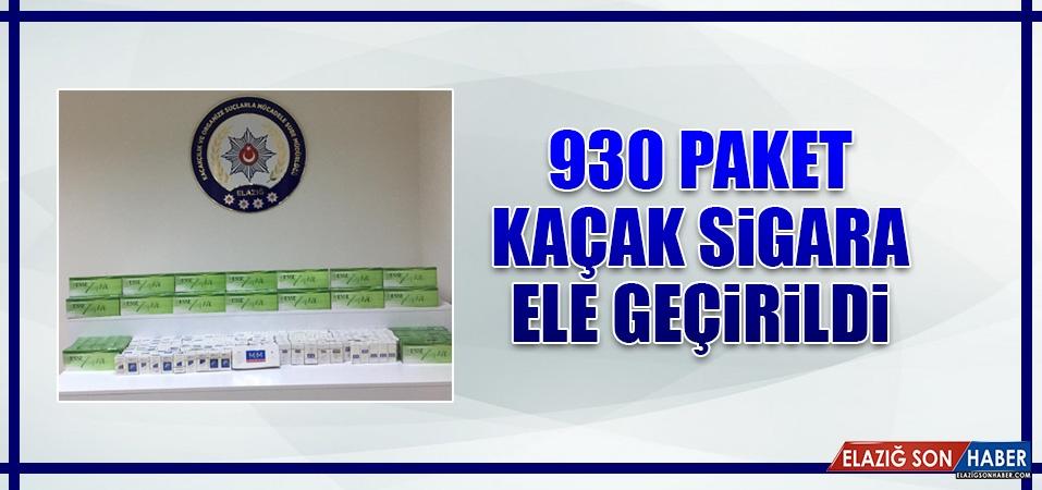 930 Paket Kaçak Sigara Ele Geçirildi