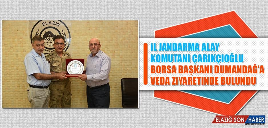Albay Çarıkçıoğlu'ndan Başkan Dumandağ'a Veda Ziyareti