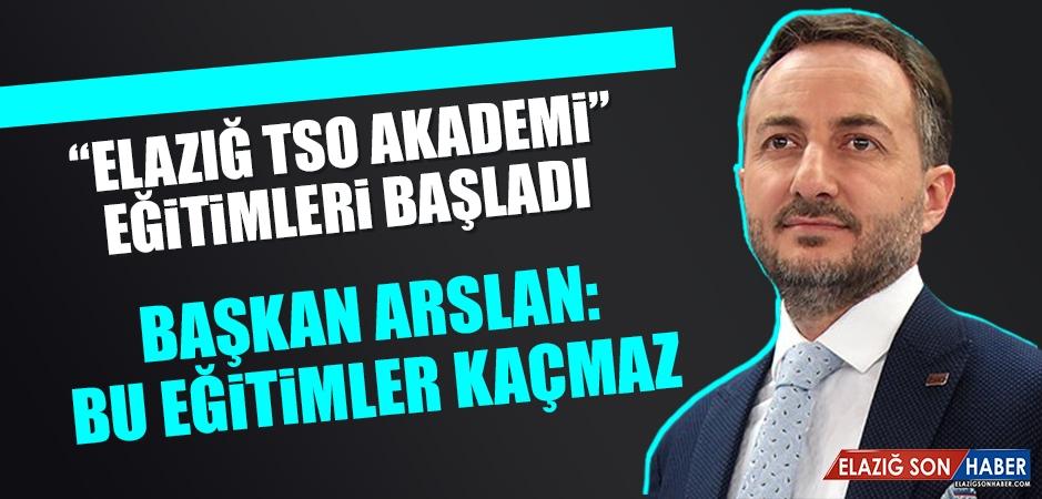 Arslan: Bu Eğitimler Kaçmaz