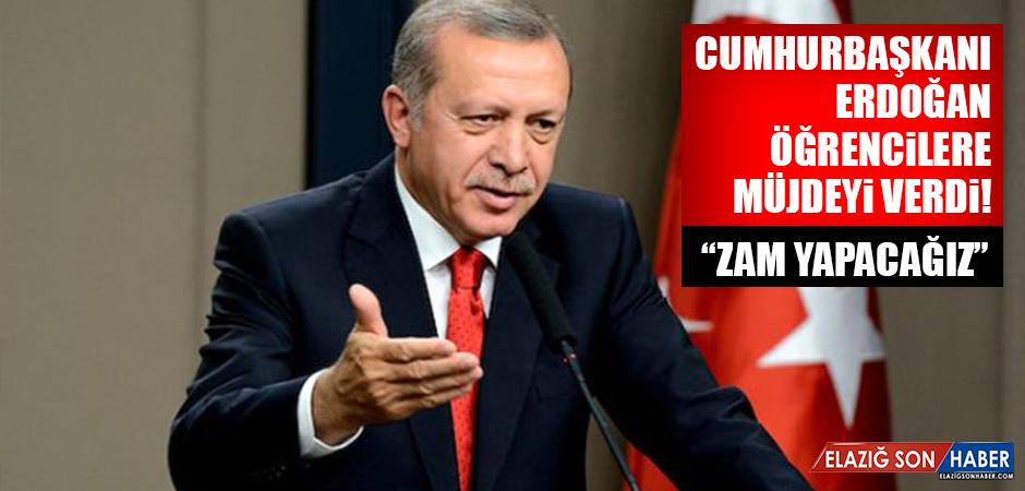 Cumhurbaşkanı Erdoğan öğrencilere müjdeyi verdi!