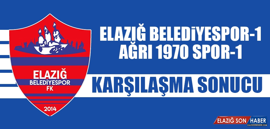 Elazığ Belediyespor 1- 1 Ağrı 1970 Spor