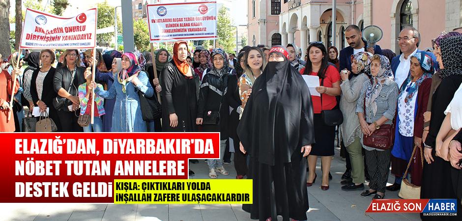 Elazığ'dan, Diyarbakır'da Nöbet Tutan Annelere Destek Geldi