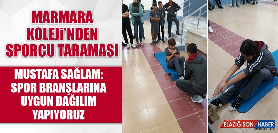 Marmara Koleji'nden Sporcu Taraması