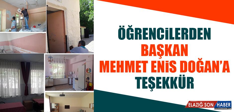 Öğrencilerden Başkan Mehmet Enis Doğan'a Teşekkür