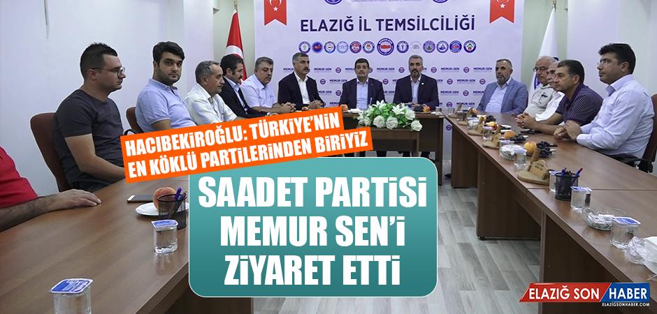 Saadet Partisi, Memur Sen'i Ziyaret Etti