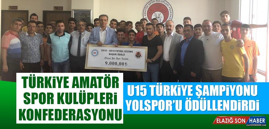 U15 Türkiye Şampiyonu Yolspor Ödüllendirildi