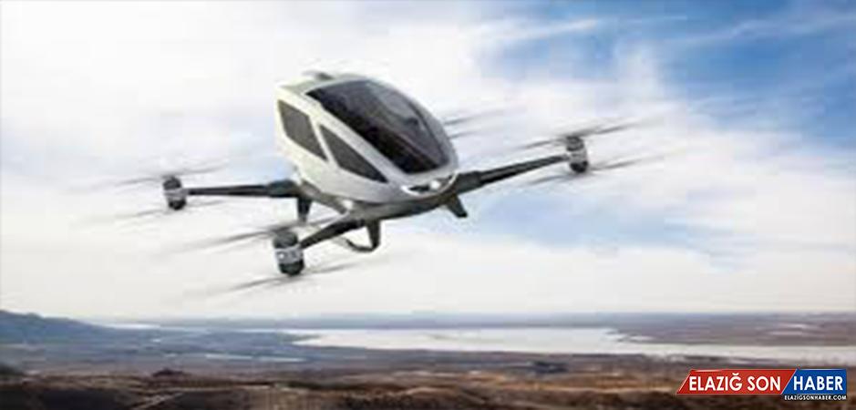 Uçan Taksi İlk Kez Havalandı 4 Dakika Test Uçuşu Yaptı